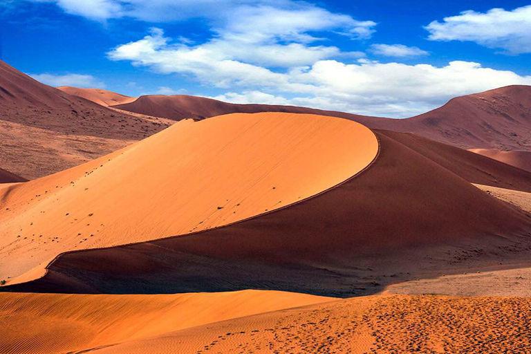 [行程特色]   世界上最古老的沙漠、最美沙漠星空---纳米布红沙漠   南部非洲最大火烈鸟聚集地,观赏拍摄大西洋沿岸优雅美丽的火烈鸟群   大西洋双体船出海游,观鹈鹕、海豚、鲸鱼,与海豹嬉戏,品最新鲜美味生蚝   三明治湾四驱冲沙,惊险刺激,寻找沙漠动物,拍摄沙海相连美景   十字角海豹王国,神秘的骷髅海岸   深度探索辛巴族、达马拉两大古老文明部落,拍摄人文大片   南部非洲动物天堂埃托沙国家公园,激动人心的动物Safari   星级酒店与特色山庄(Lodge), 特色多样非洲风情住宿 【活动时间】